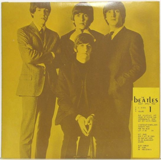 Beatles Sweet Apple Trax tan detail