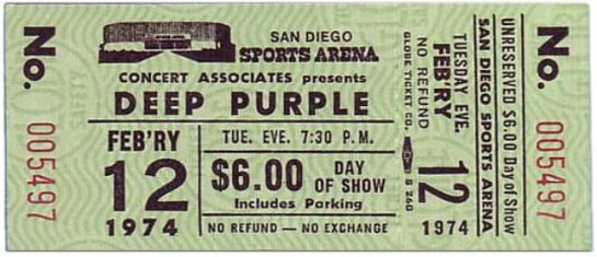 Deep Purple San Diego 74 t