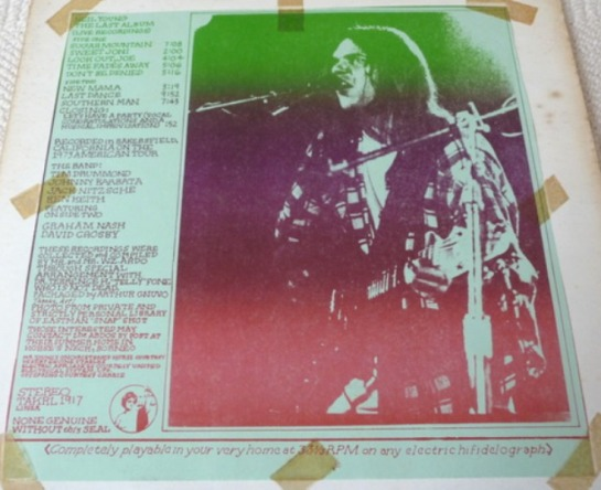1917 Neil Young The Last Album The Amazing Kornyfone Label