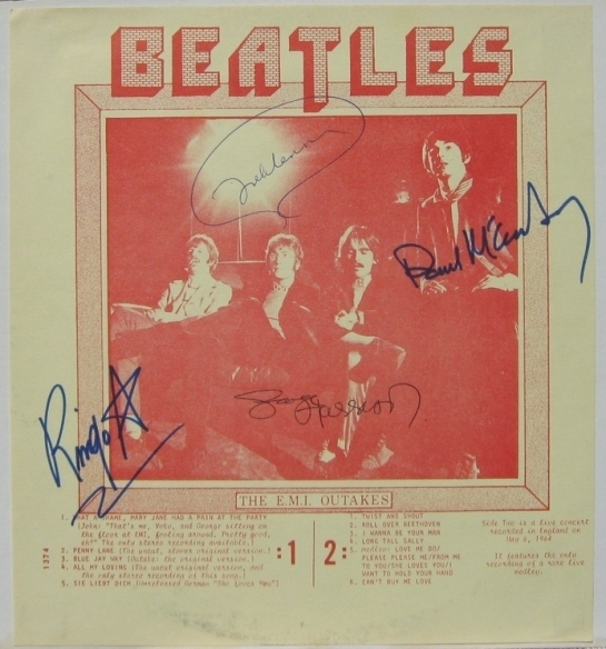 Beatles EMI Outakes signed Spindizzle