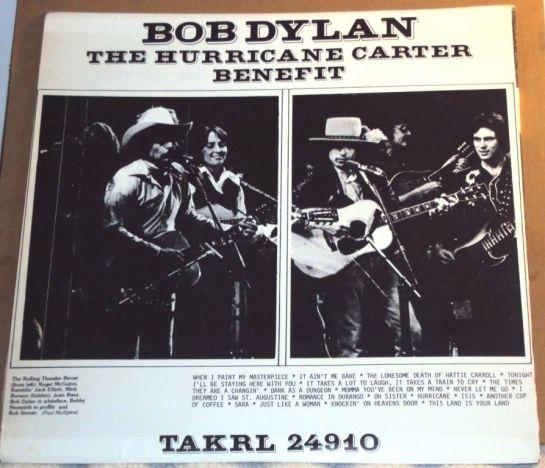 Dylan Hurricane Carter Benefit