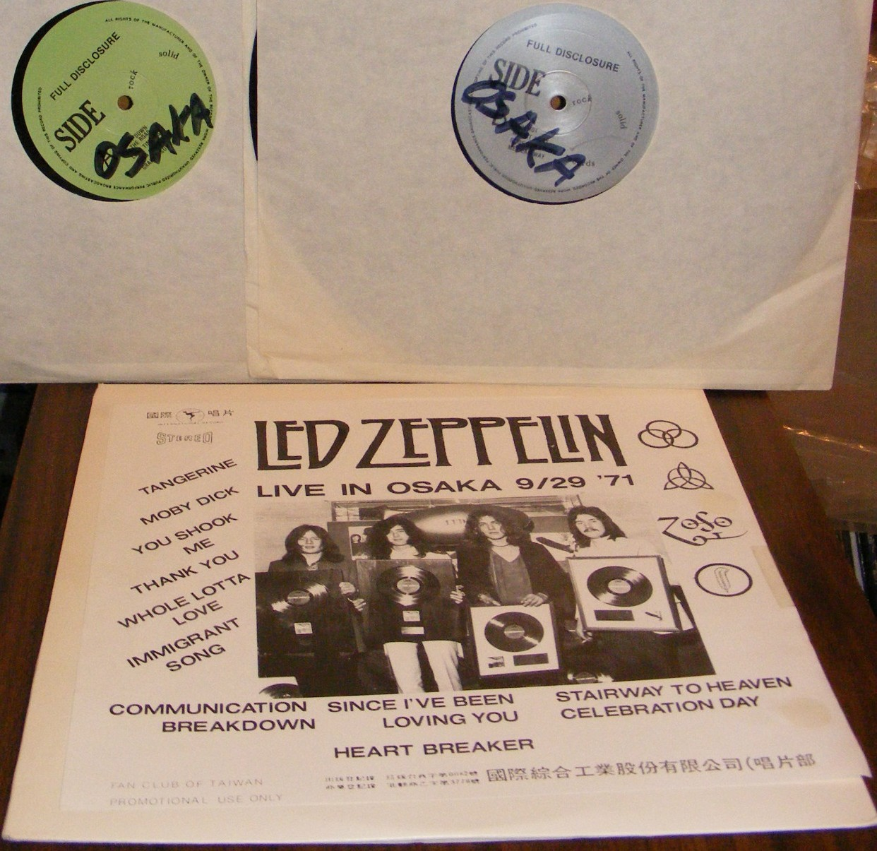 1966-RS: led zeppelin a cellarful of noise – LIVE IN JAPAN