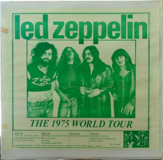 Led Zeppelin 1975 World T orig