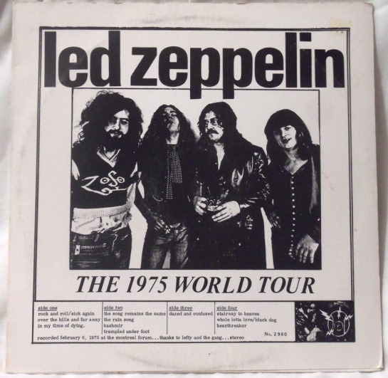 Led Zeppelin live 75 World T b&w
