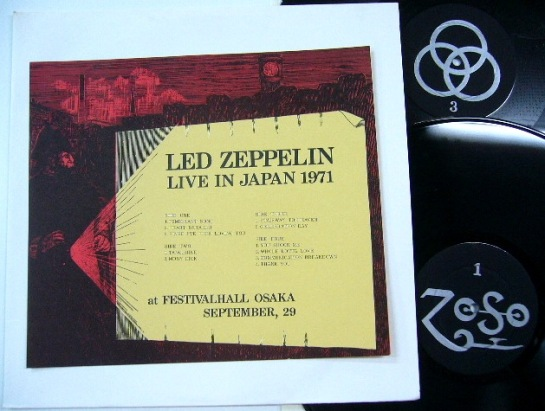 Led Zeppelin Live Japan 1971 2 LP