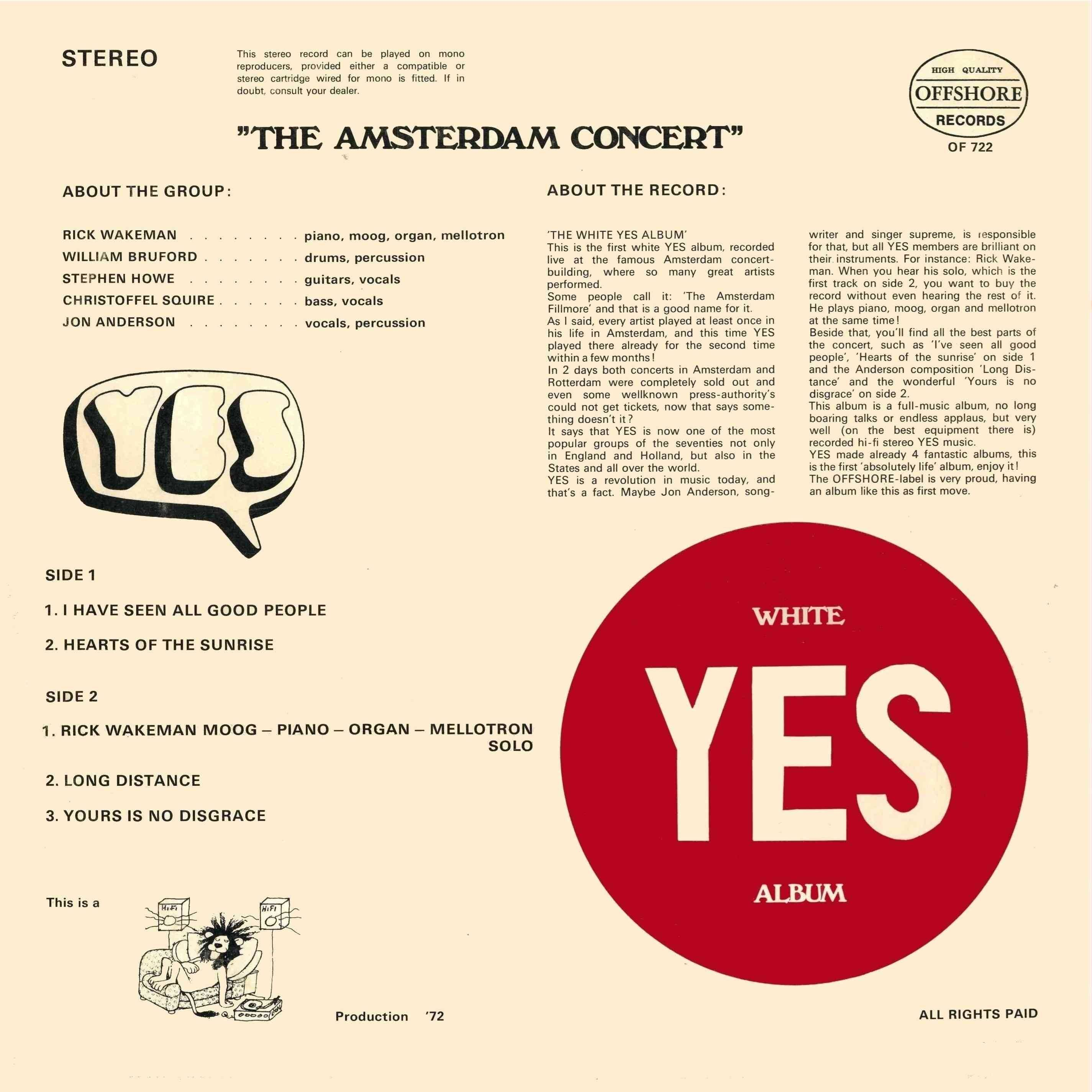 Yes - The Yes Album / Going For The One