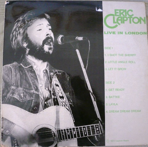 Zap 7863 Eric Clapton Slowhand Live In London Amp Live In