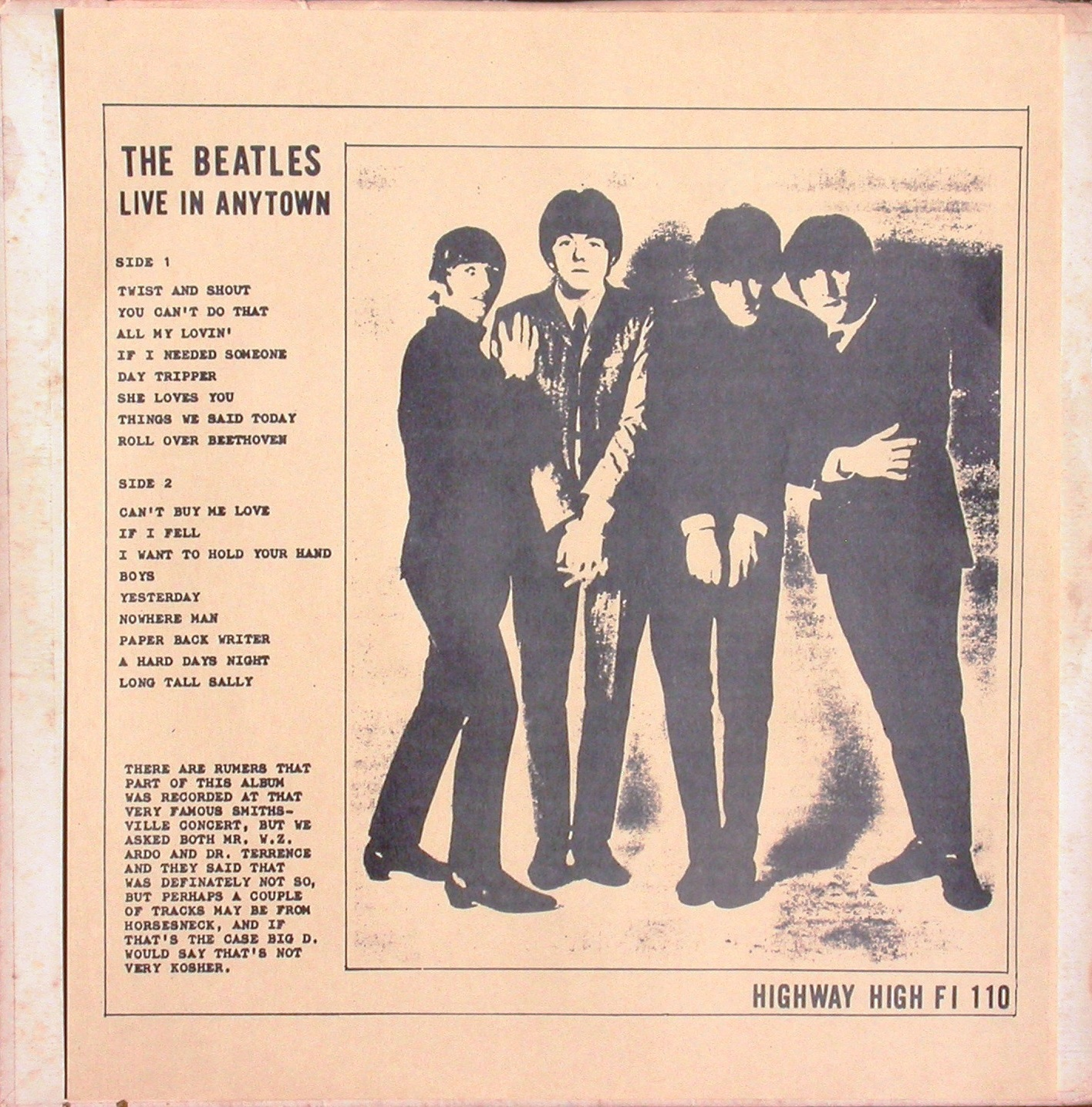 Hhcer 110 The Beatles Live In Anytown The Amazing