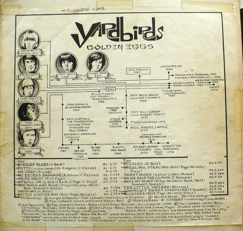 Yardbirds Golden Eggs b II