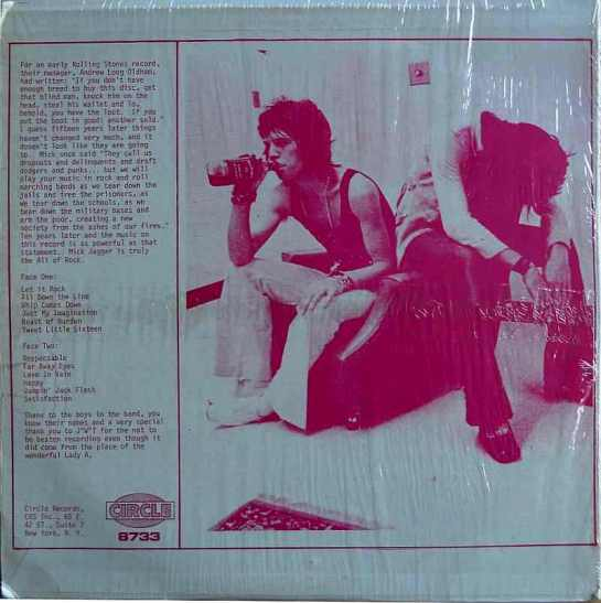 Rolling Stones On Tour 1978 Circle b