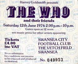 The Who Swansea ticket