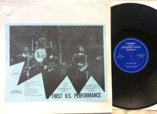 Beatles First U.S. Performance black