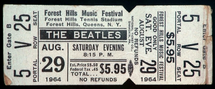 Beatles Forest Hills Ticket 2