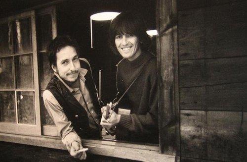Bob Dylan George Harrison 1968 New York
