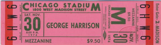 Harrison Chicago 74 ticket