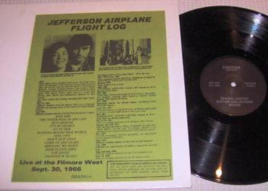Jefferson Airplane Flight Log
