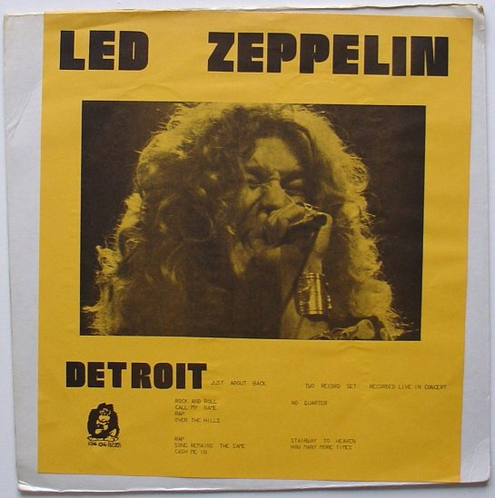 Led Zep Detroit Just About Back 4
