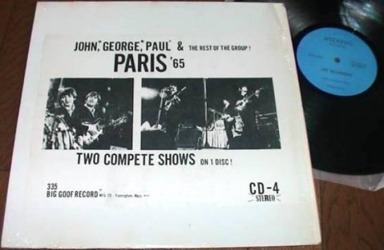 Beatles Paris 65 blue lbl