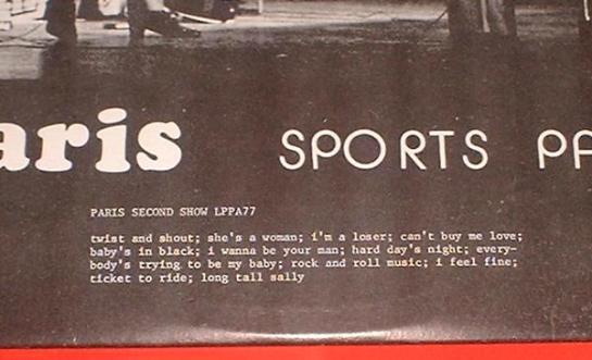 Beatles Paris SP detail