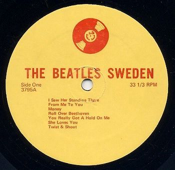 Beatles Sweden 1963 orig lbl