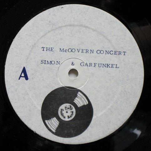 Simon & Garfunkel McGovern Benefit lbl
