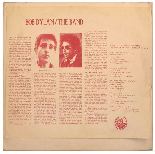 Dylan The Band b