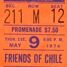 Friends of Chile ticket