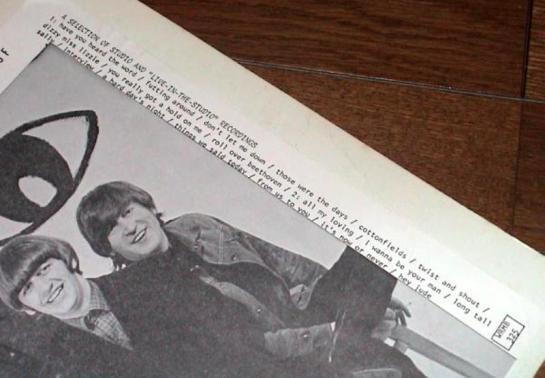 Beatles In The lap detail 2