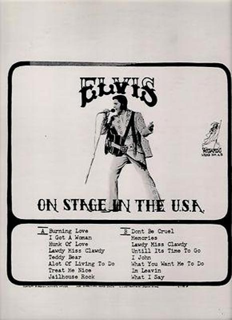 Presley On Stage In The USA alt