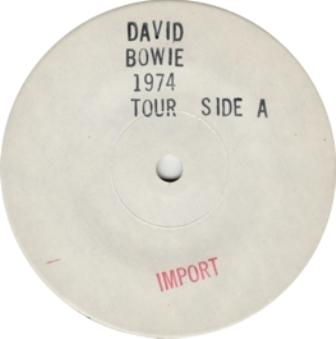 Bowie 74 Live white lbl
