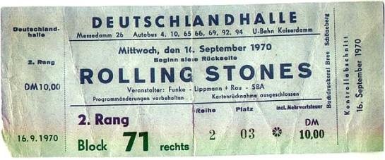 RS Berlin 1970 ticket