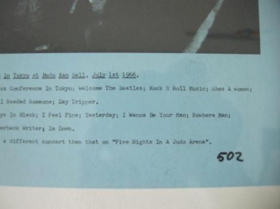 Beatles 502 Takeover detail
