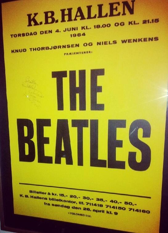 Beatles Copenhagen 64 poster