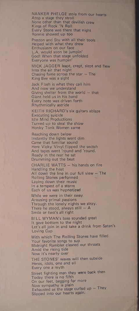 Rolling Stones 1975 TOTA pt 2 detail