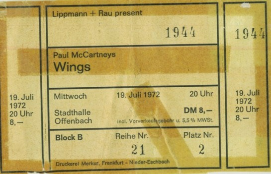 Wings Offenbach 72 ticket