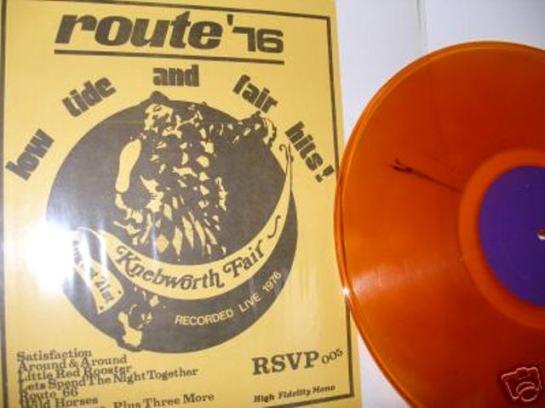 Rolling Stones route '76 orange