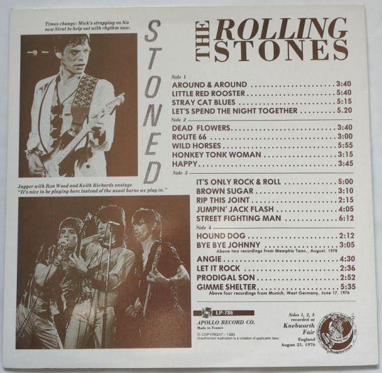 Rolling Stones Stoned Stones b