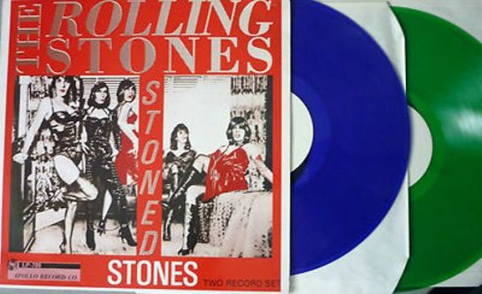 Rolling Stones Stoned Stones blu gree