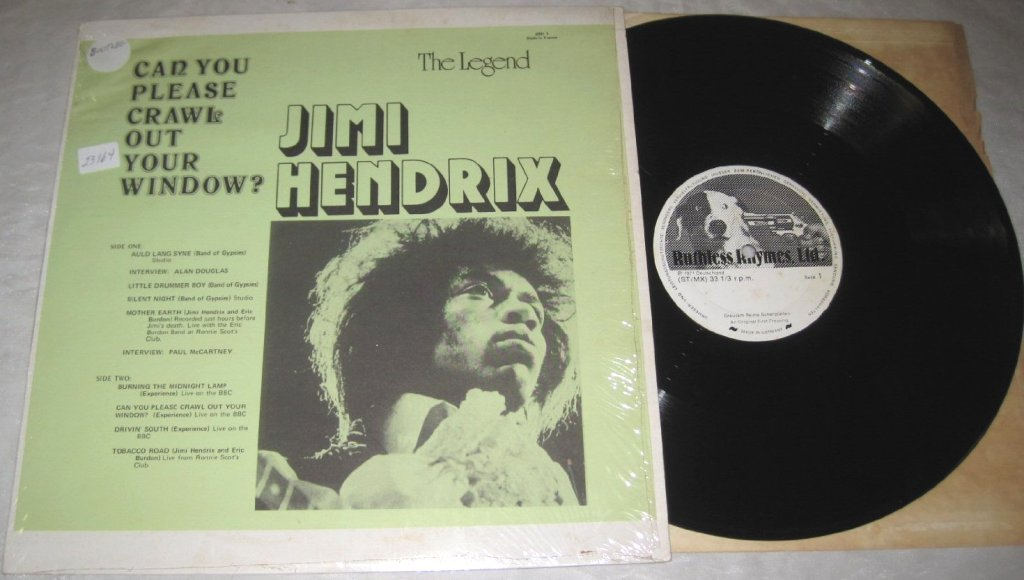 Jimi Hendrix Can You Please Crawl Out Your Window The Story Of