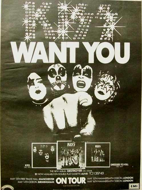 KISS UK tour ad