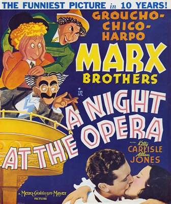marx brothers a night at the opera movie poster 3