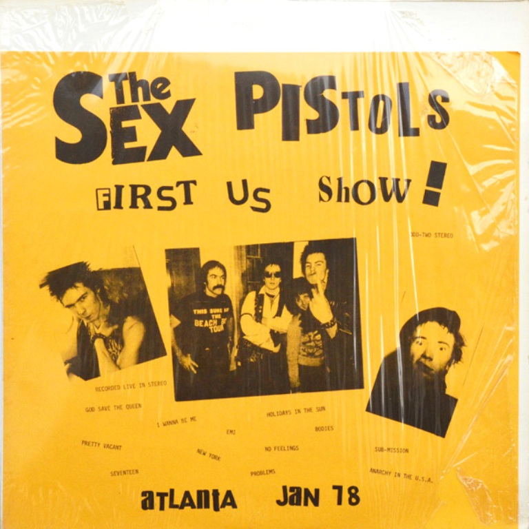 The Sex Pistols' US Tour in Vinyl Bootlegs: 'FIRST US ShOW!': ODD TWO / 'ROT-N-ROLL':K&S 023 / 'PISTOLS SHOCK USA!' / 'Welcome To the Rodeo': SP 2800 / 'GUN CONTROL': SP 2900 / 'SEX PISTOLS FILE' 4 LP Box (1/6)