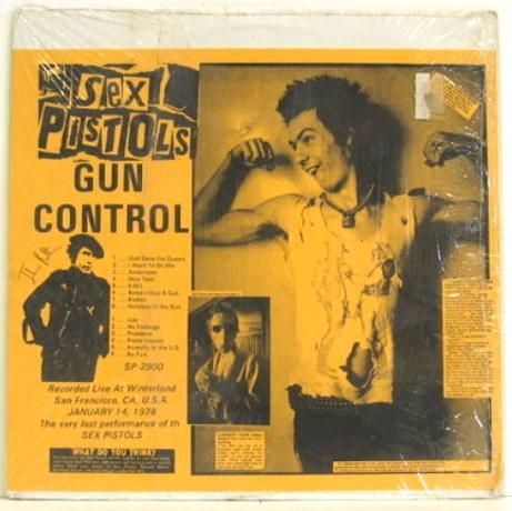 Sex Pistols Gun Control yb