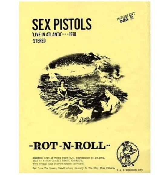 Sex Pistols Rot n Roll insert