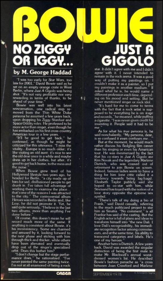 Creem Bowie Sept 78 1