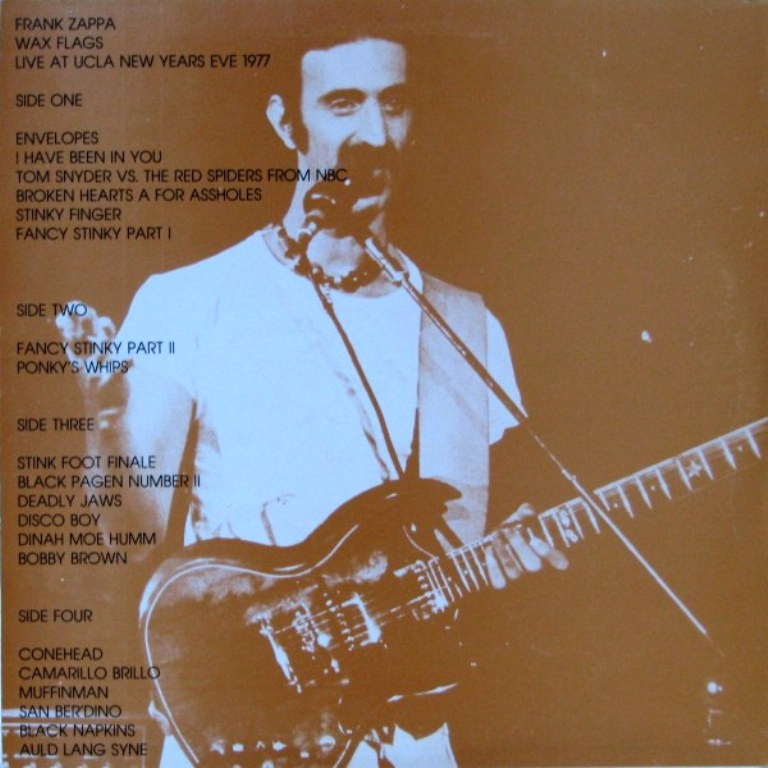 Frank Zappa Wax Flags Live At UCLA New Years Eve 1977