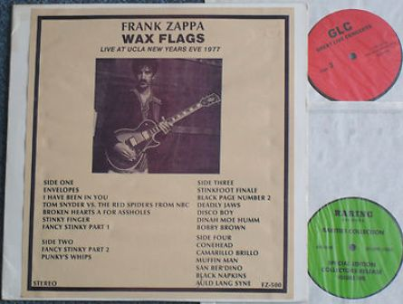 Zappa Wax Flags RE