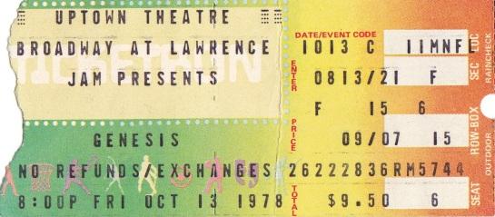 Genesis Chicago 13.10.78