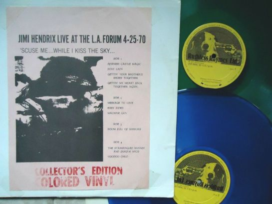 Hendrix Live LA Forum blu gree