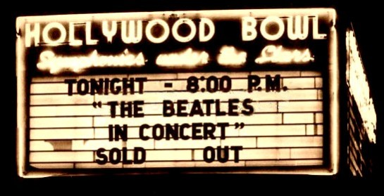 Beatles Hollywood Bowl 64 sign